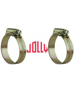 JOLLY Plated Worm Drive Clamp (25mm-35mm)