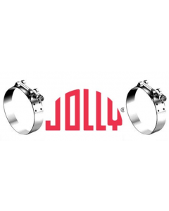 JOLLY Plated T-BOLT Worm Drive Clamp (42.9mm-49.3mm)